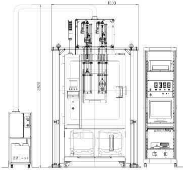 二連式電解質膜物性試験機