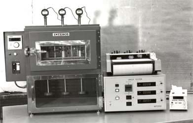 プラスチック加熱変形試験機